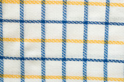 Fabric texture, chequered pattern Royalty Free Stock Photography