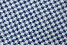 Blue and White Lumberjack Plaid Pattern Background. Fabric Texture, Close Up of A Blue and White Lumberjack Plaid Towel or Napkin Pattern Background Royalty Free Stock Photos