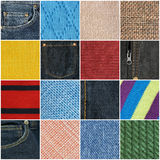 Fabric texture collection Stock Photo