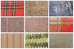 Fabric texture collection Stock Photography