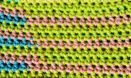 Fabric texture crochet stitches Royalty Free Stock Photo