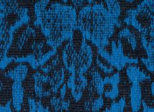 Fabric texture endless pattern, black and blue Royalty Free Stock Image