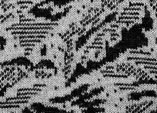 Fabric texture endless pattern, black and white stock photo