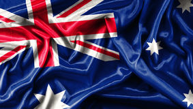 Fabric texture of the flag Australia Royalty Free Stock Image