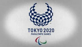 Tokio 2020 paralympic games Flag royalty free stock image