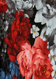 Fabric texture with flowers Royalty Free Stock Photography