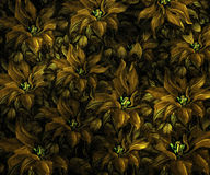 Fabric texture with flowers Royalty Free Stock Images