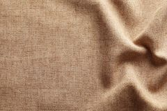 Fabric texture with folds. As background Stock Photos