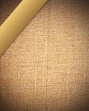 Fabric texture with gold bar - for designers Stock Images