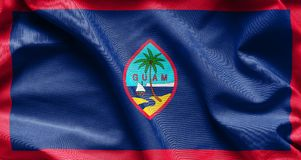 Fabric texture of the Guam Flag stock image