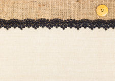 Fabric texture with Lace Royalty Free Stock Image