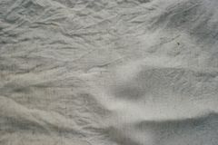 Fabric texture Linen Crumpled Dirty Milky White.  Stock Image