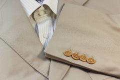 Fabric texture men's jacket Royalty Free Stock Images