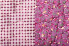 Fabric texture mix of patterns Stock Photo