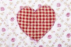 Fabric texture pattern heart Stock Image
