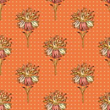 Fabric texture pattern with seamless flowers. Beauty seamless floral pattern Stock Photography