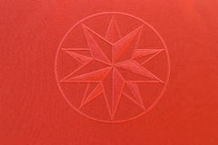 Fabric texture - red star Stock Photo