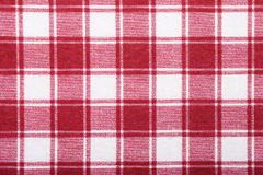 Fabric texture red white cell Stock Photos