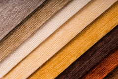 Fabric texture samples. Royalty Free Stock Images