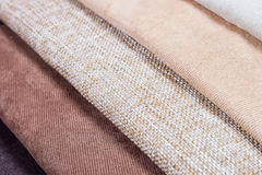 Fabric texture samples Stock Photo