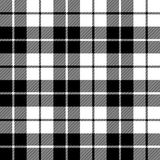 Fabric texture seamless pattern black tartan Stock Photos