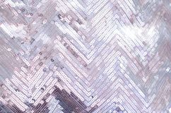Fabric texture with shimmering silver sequins royalty free stock images