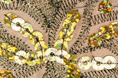Fabric texture with spangles Stock Photography