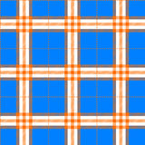 Fabric texture in a square pattern seamless blue and orange Stock Images