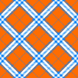 Fabric texture in a square pattern seamless diagonal orange  Royalty Free Stock Images