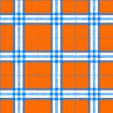 Fabric texture in a square pattern seamless orange and blue Stock Image