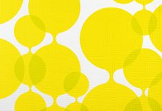 Fabric texture yellow and white background, cloth pattern Royalty Free Stock Photos