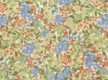 Fabric textured. With colorful flowers Stock Image