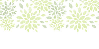 Fabric textured abstract leaves horizontal Stock Image