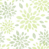 Fabric textured abstract leaves seamless pattern Stock Photo