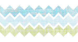 Fabric textured chevron stripes horizontal seamless pattern background Stock Image