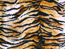 Fabric tiger. Beautiful fabric tiger for background Stock Photo