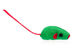 Fabric toy mouse Royalty Free Stock Image