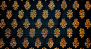 Fabric with traditional Indian design Royalty Free Stock Photography