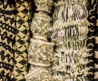 Fabric trim textures Stock Images