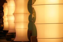 Fabric tube lamps Stock Image