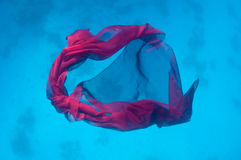 Fabric underwater background Royalty Free Stock Photos