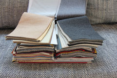 Fabric for upholstery the furniture. Samples of color of fabric for upholstery the furniture Royalty Free Stock Images