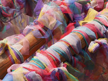 Fabric used in Buddhism custom Royalty Free Stock Photography