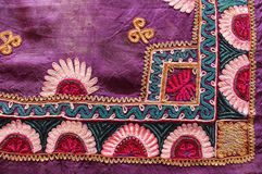 Fabric from uzbekistan, the needlework Royalty Free Stock Photos