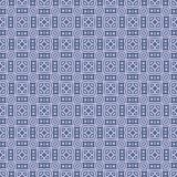 Fabric vector squared design seamless background pattern illustration in blue coloured Royalty Free Stock Photos