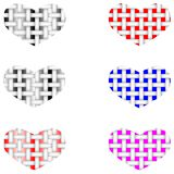 Fabric vector structure of the heart vector illustration
