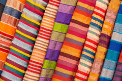 Colored fabric. Fabric in vibrant colors as seen at the markets in china Royalty Free Stock Photo