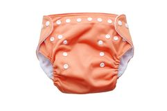 Fabric washable diaper. On white background Royalty Free Stock Images
