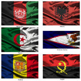 Fabric world flags collection 01 Royalty Free Stock Photos