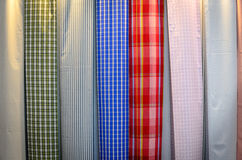 Fabric. Woven fabrics are manufactured according to industrial processes Stock Images